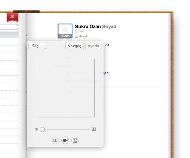 Mac OS X Lion Adres Defteri