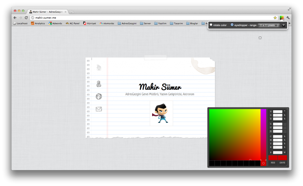 Chrome Extensions - Colorpicker