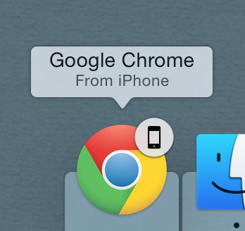 Chrome from iPhone