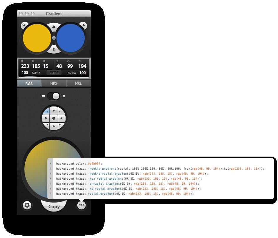 Gradient App CSS Code
