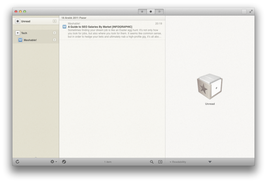Google Reader - Reeder Mac OS