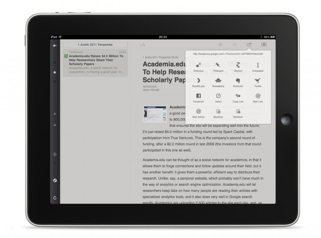 Reeder iPad App