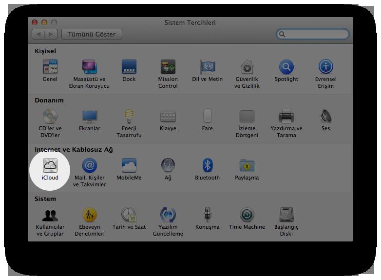Mac OS X Lion Sistem Tercihleri