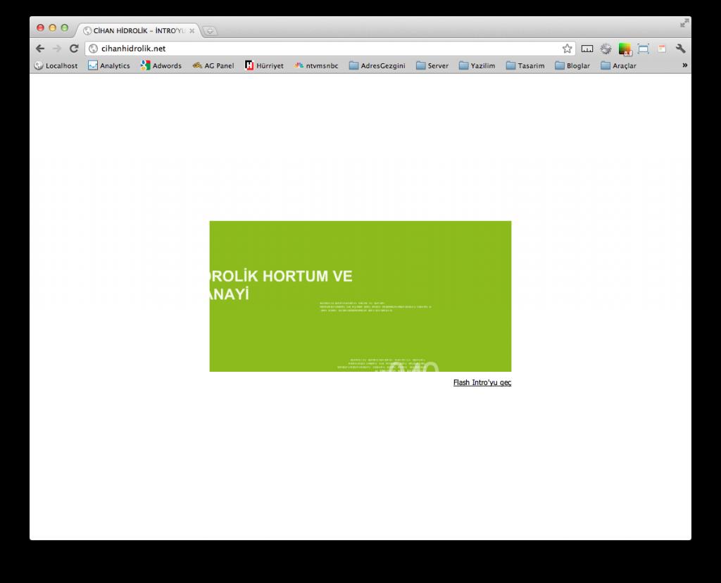 Intro Sayfası