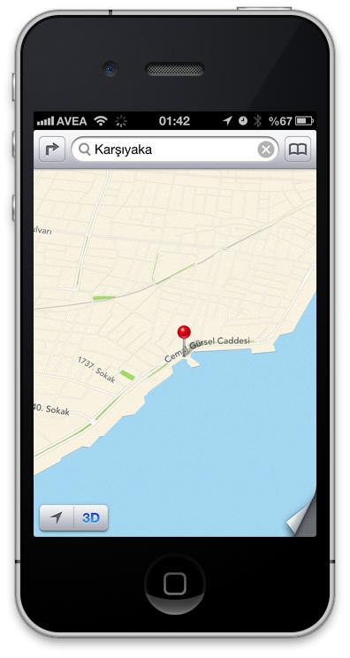 iOS6 3D Harita