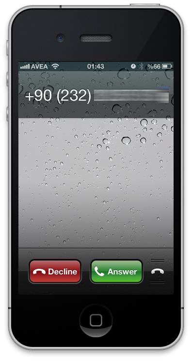 iOS6 Arama Ekranı