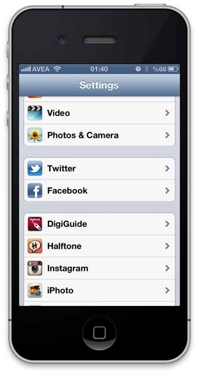 iOS6 Facebook Entegrasyonu
