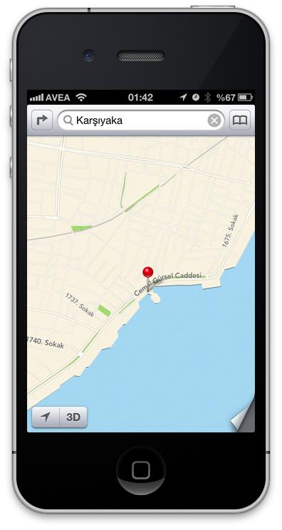 iOS6 Haritalar