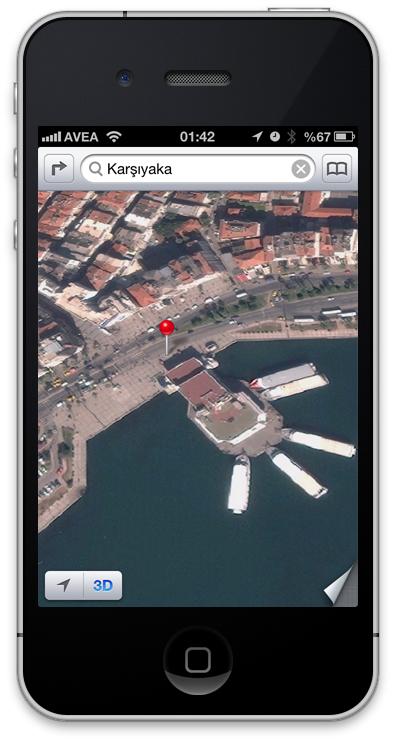 iOS6 Uydu Görünüm Harita