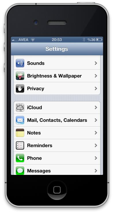 iPhone Mail İmzası Ayarları - Ayarlar