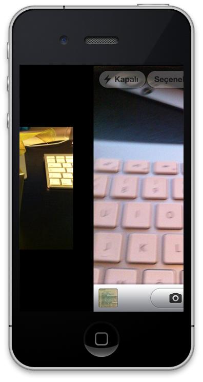 iPhone Kameradan Fotoğraflara Geçiş
