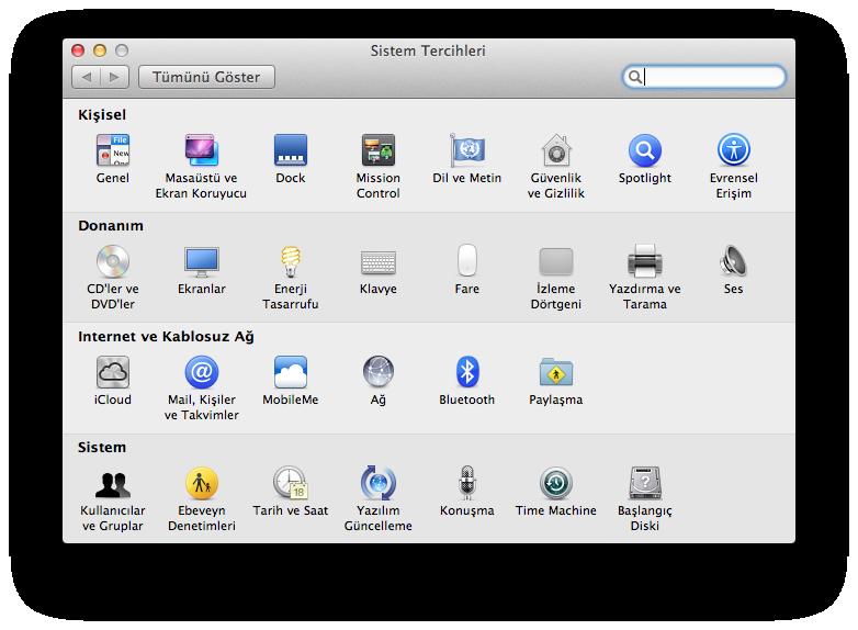 Mac OS X Klavye Kısa Yolları