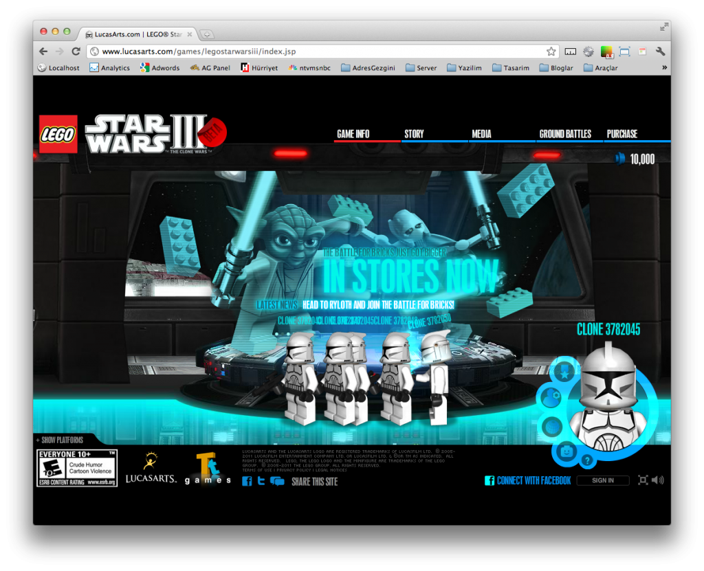 Lego Star Wars Flash Site