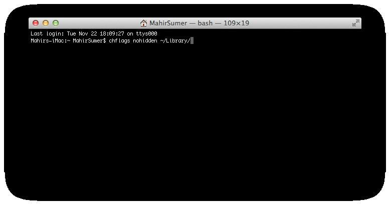 Mac OS X Terminal