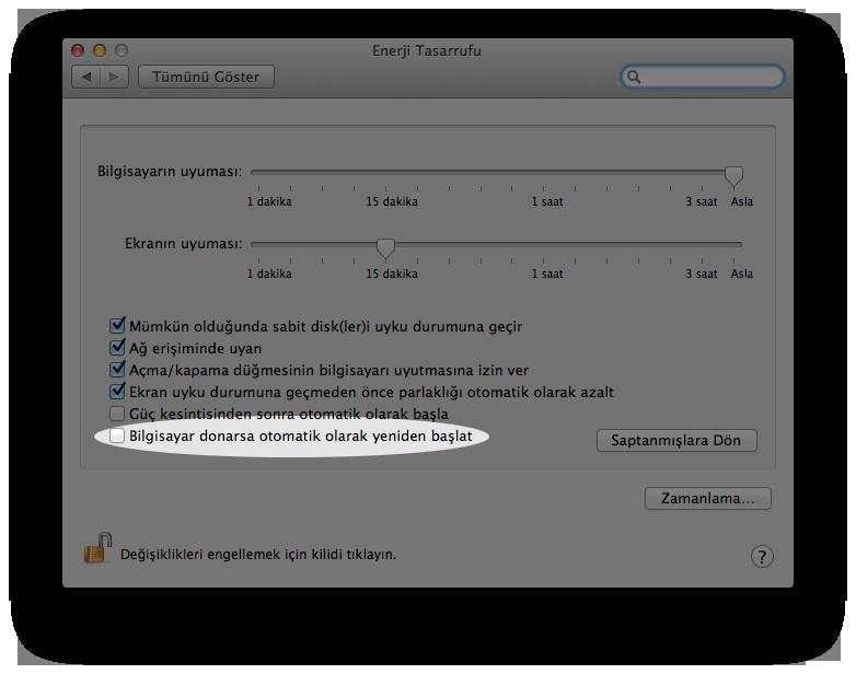 Mac OS X Lion Otomatik Başlatma