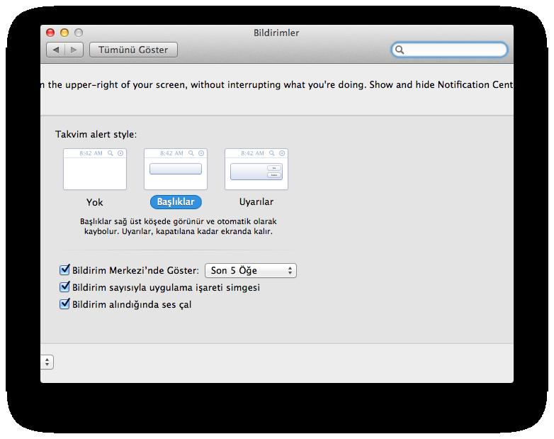 OS X Mountain Lion Bildirimler