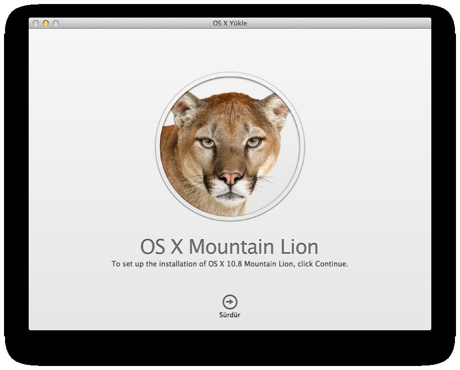 OS X Lion Mountain Lion