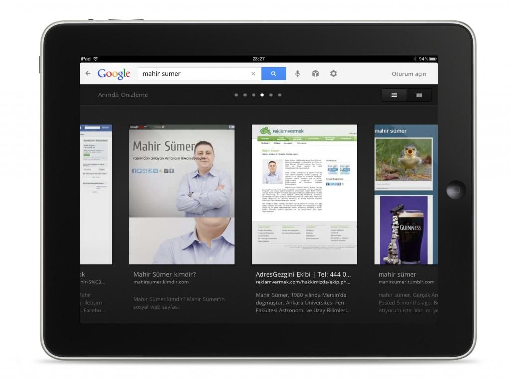 Google iOS Uygulama Ekran Görüntüsü
