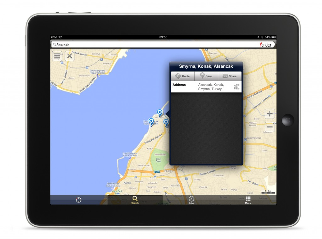 Yandex iOS Harita Uygulaması