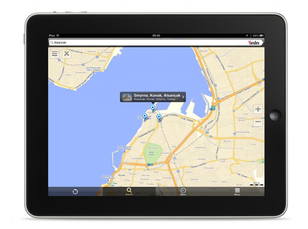 Yandex Harita Uygulaması